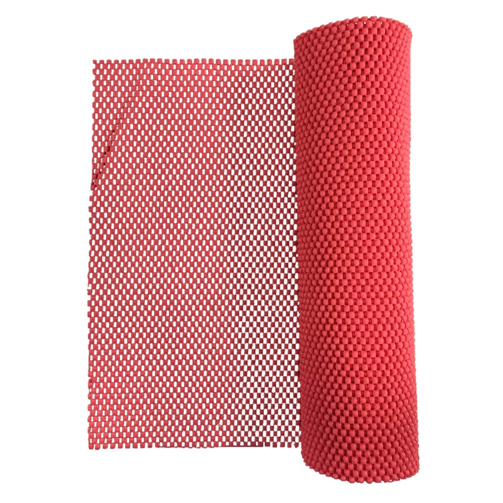Fityle 30x200cm PVC Foam Rubber Non-Slip Kitchen Cupboard Box Liner Drawer Mat Under Rug Grip - Black