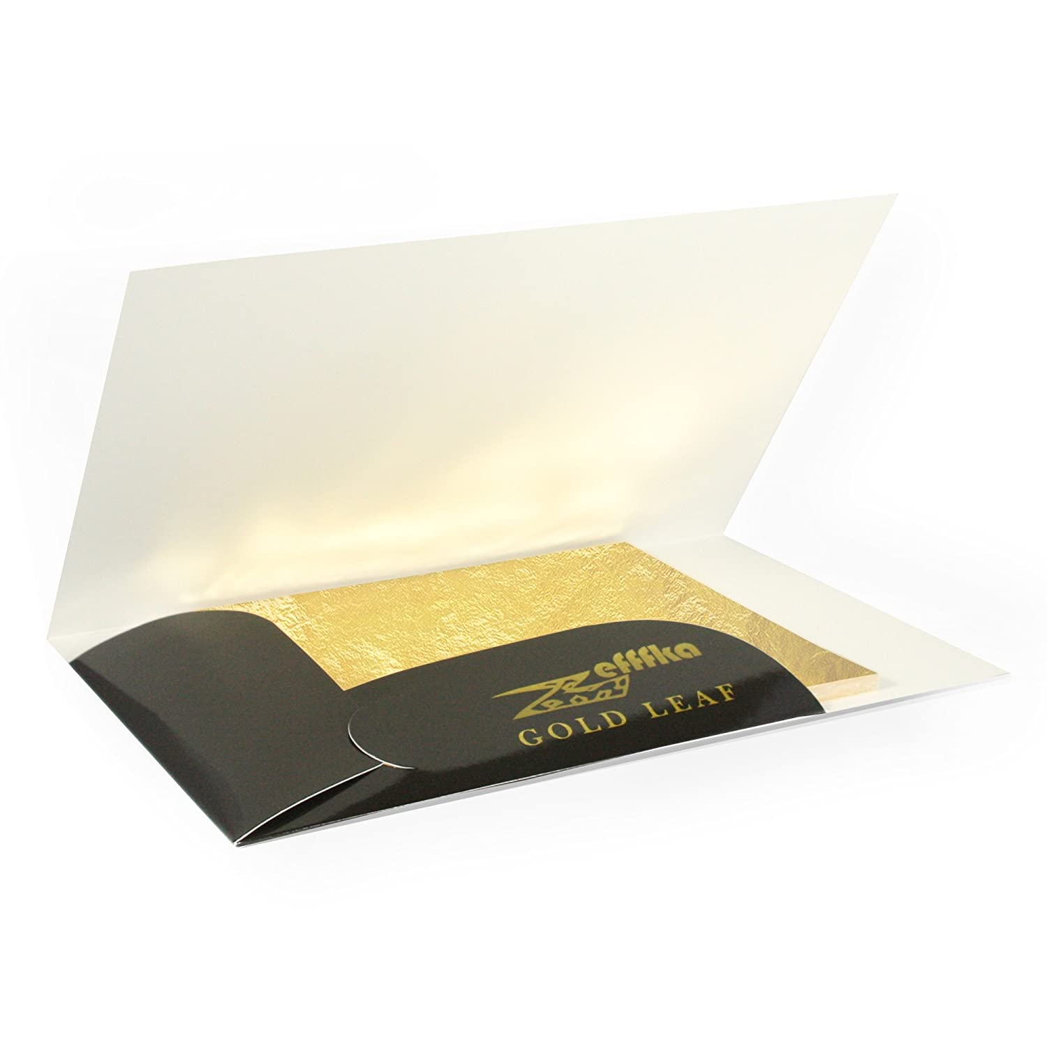 ZEFFFKA 100 Sheets Pack Gold Leaf Imitation High Quality 14x14cm