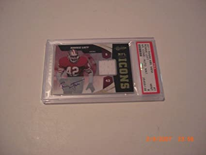 3d87d4c1a Image Unavailable. Image not available for. Color  Ronnie Lott 2011  Absolute Mem. Nfl Icons Game Used Jersey ...