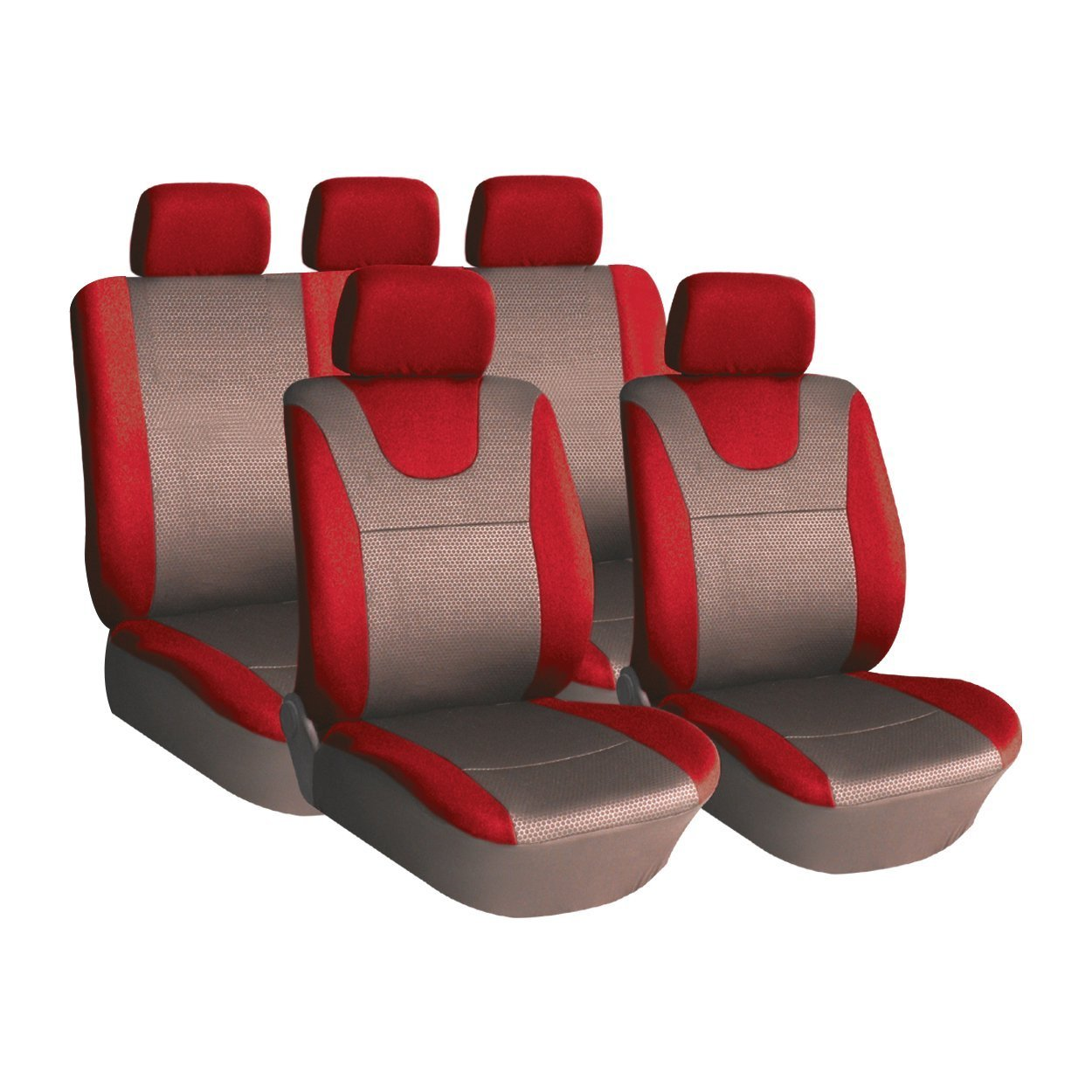 XtremeAuto Illusion Universal Car Seat Covers RED