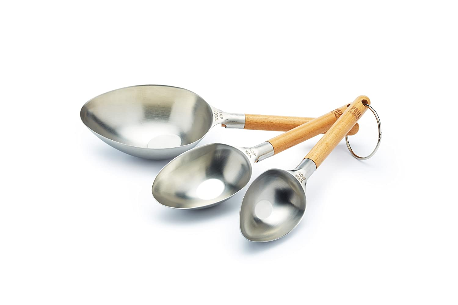 KitchenCraft Paul Hollywood Stainless Steel Measuring Cups (Set of 3) Kitchen Craft PHMCUPS