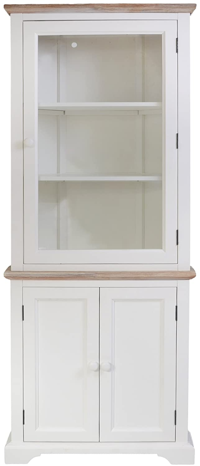 Florence Corner Display Cabinet. White Glass Corner Dresser With Bottom  Cupboard With Shelf. STURDY And ASSEMBLED: Amazon.co.uk: Kitchen U0026 Home