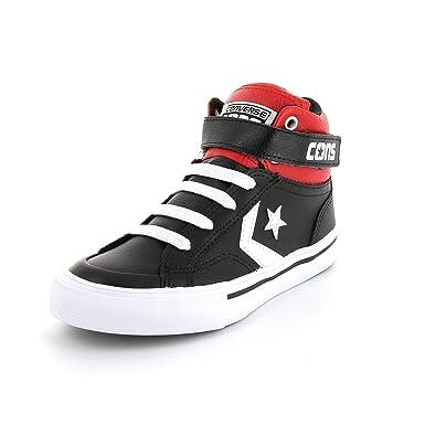 568cb3f81659 Converse Pro Blaze Strap High Shoes Children black red Size 12.5 US - 30