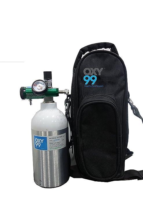 Oxy99 Portable Ultra Light Medical Oxygen Cylinder Kit (170 Liters)