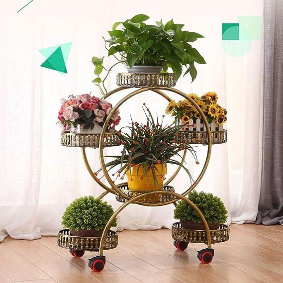 Puesto de plantas Soporte de flores redondo de metal europeo ...