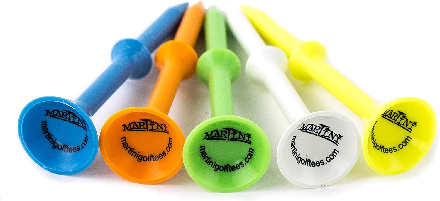 Martini Golf Tees DMT007 Durable Plastic Step-UP Tees (5 Pack)