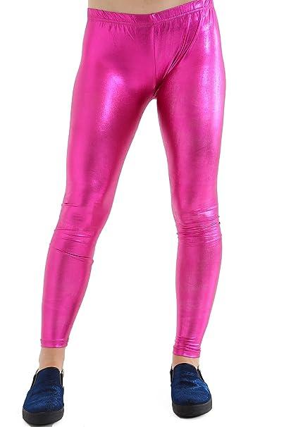 effd9c5c70b8 GW CLASSYOUTFIT®Ladies Women's Girls Disco Metallic Shiny Plus Sizes Pants  Dance Leggings Footless 8