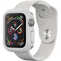 RhinoShield Coque Bumper pour Apple Watch Series 4-44 mm [CrashGuard NX] Protection Fine Personnalisable avec Technologie Absorption des Chocs - Blanc