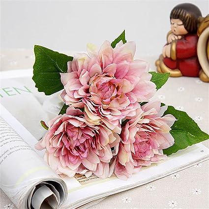 Amazon Artificial Peony Plastic Flowers Bride Bouquet Autumn