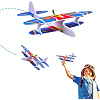 The Flyers Bay Foam Glider Plane with Electric Motor with USB for Kids Outdoor Throwing and Flying - Model Airplanes Kits to Build a Engineering Toy Airplane - Great STEM Toy Gift
