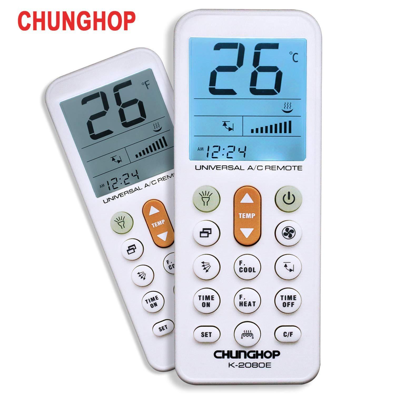 CHUNGHOP Universal Air Conditioner Remote Control for Daikin, Hitachi,  Mitsubishi, Carrier, Panasonic, LG, Sharp, Haier, Gree, Midea, Whirlpool,