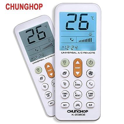 CHUNGHOP Universal Air Conditioner Remote Control for Daikin Hitachi  Mitsubish Carrier Panasonic LG Sharp Haier Gree Midea Whirlpool Bosch  Olympus