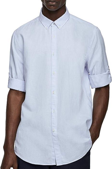 Zara 7545/402/403 - Camisa para Hombre Azul Azul XXL: Amazon.es: Ropa y accesorios