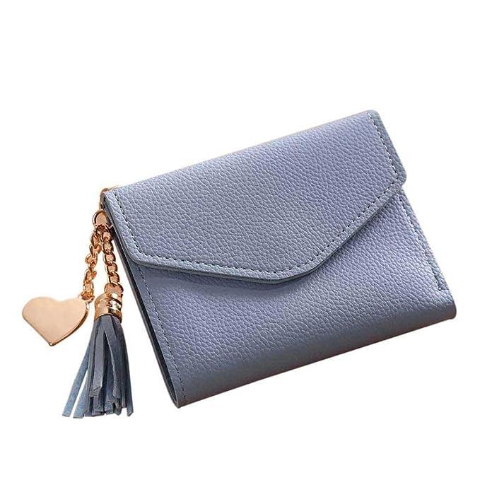 3d549331b1c04 YULAND Geldbeutel Männer - Einfache Kurze Quaste Kartenhalter - Brieftasche  Geldbörse Handtasche (Blau)