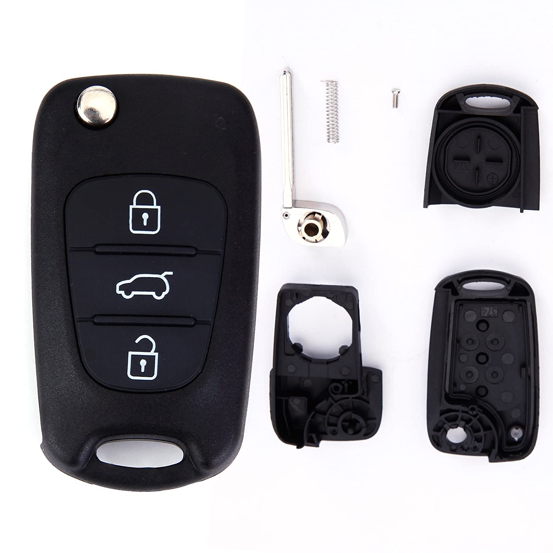 Carcasa Reemplazo de Mando Remoto Llave 3 Botones para Hyundai i10 i20 i30 ix35