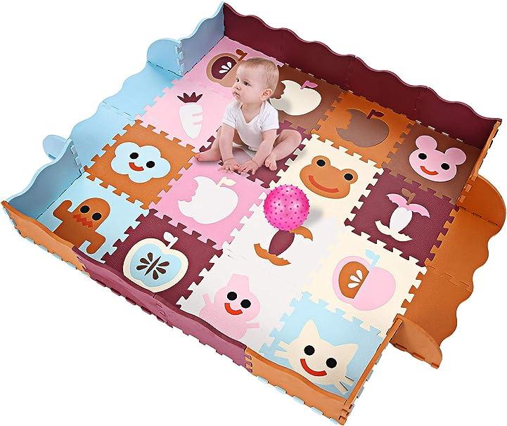 Kinder Krabbelmatte Extra dick Baby Schaumstoffmatte Spielmatte