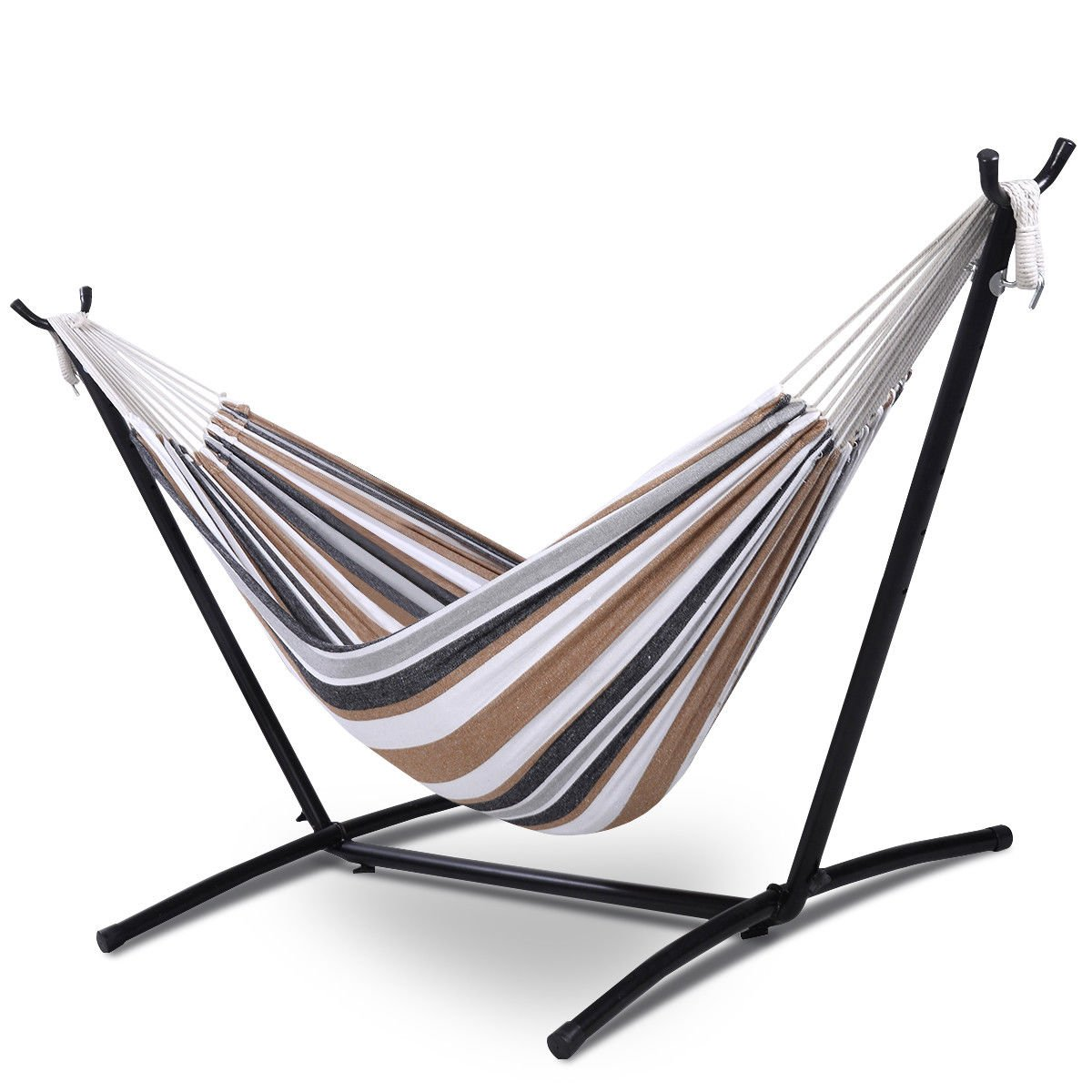 Amazon Com Ayamastro Portable Double Hammock Polyester Steel Stand