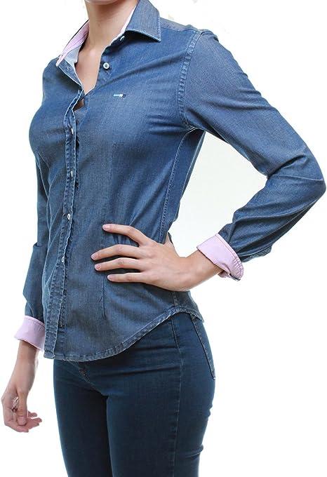 OranJeans 0C382 Camisa Vaquera clásica para Mujer de algodón elástico (S, Enzimatico): Amazon.es: Ropa y accesorios