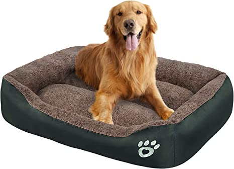 Amazon Com Oqq Dog Bed Machine Washable Rectangle Breathable Soft Fiber With Nonskid Bottom Extra Large Pet Bed For Medium And Large Dogs Or Multiple Pet Pet Supplies