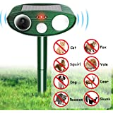 FOCUSPET Animal Repellent Ultrasonic Outdoor Solar Animal & Pest Repeller, Waterproof Repellent, Pest Control with Motion Sensor Flashes for Dogs, Foxes, Birds, Skunks, rodents