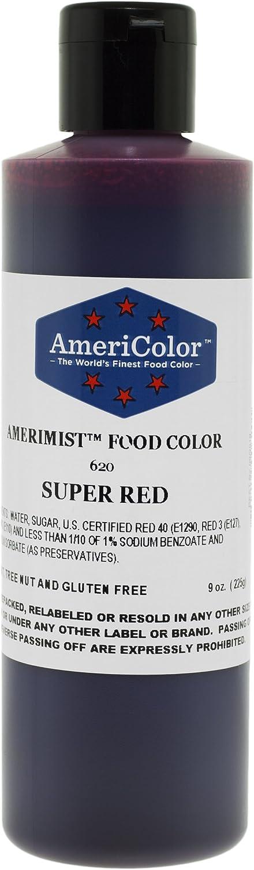 AmeriColor AmeriMist Super Red Airbrush Food Color, 9 oz