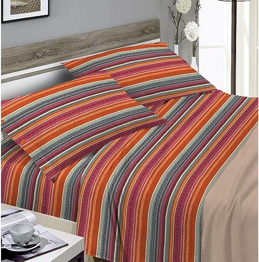 Biancheriaweb - Juego de sábanas de 100% algodón, diseño Mexicano ...