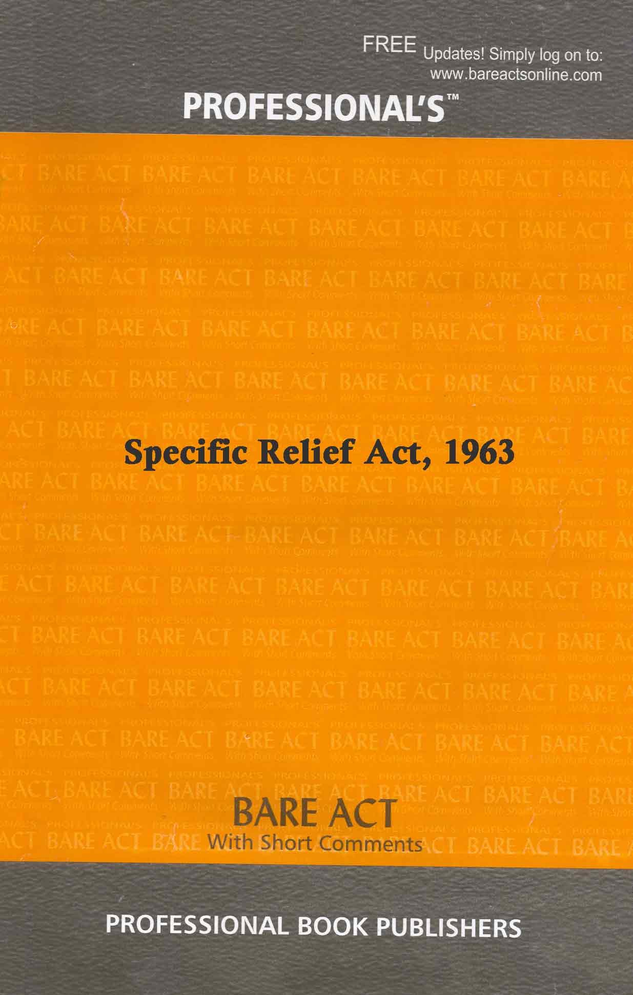 Specific Relief Act 1963 Bare Act Pdf