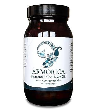 Armorica Aceite de hígado de bacalao fermentado (cápsulas de 120 x 500 mg): Amazon.es: Salud y cuidado personal