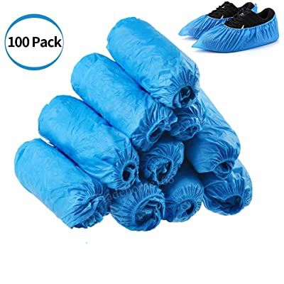 100 Pack (50 Pairs) Disposable Shoe Covers, Anti Slip Waterproof Boot Shoe Cover Shoe Booties for Men and Women (Blue): Kitchen & Dining