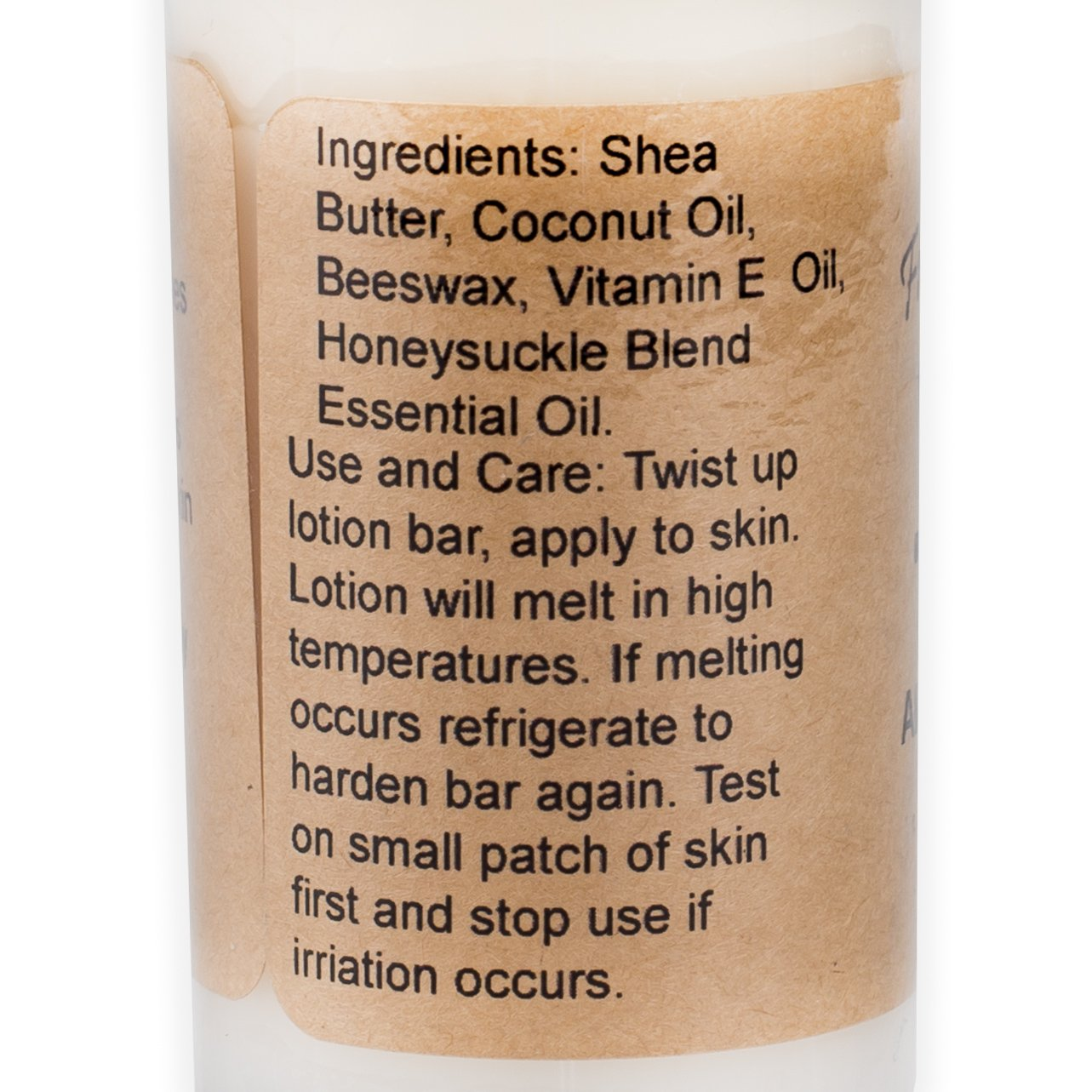 Free Reign Farm Honeysuckle 2 Ounce Large Moisturizing All Natural Lotion Bar by Free Reign Farm