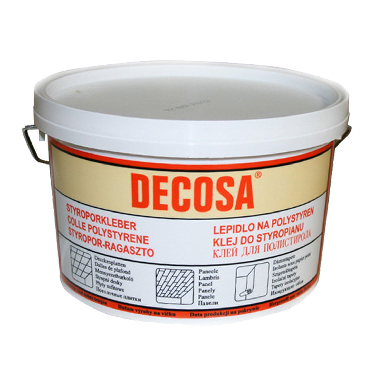 Decosa Styroporkleber, weiß, 1 Eimer à 4 kg Saarpor