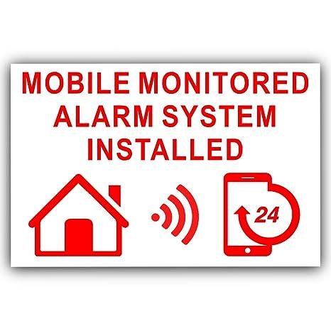 6 x supervisadas móvil sistema de alarma instalado pegatinas ...