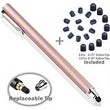 B & D Stylus Stift Touch Pen Eingabestift Kapazitiven Touchscreen mit 20 x Ersatzspitzen für Tablet iPad iPhone Samsung Galaxy Tab (Rose Gold)