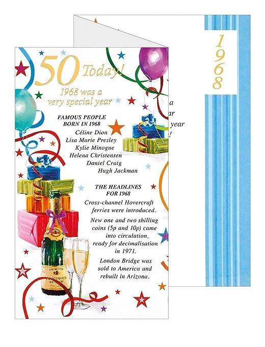 Azul 50th cumpleaños con texto en inglés - 1965 Was un año ...