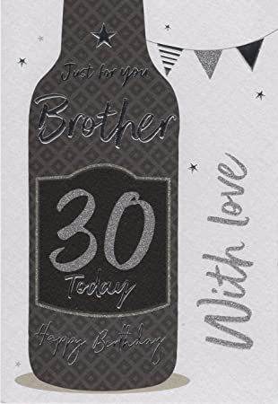 Brother 30th birthday birthday card amazon kitchen home brother 30th birthday birthday card bookmarktalkfo Images