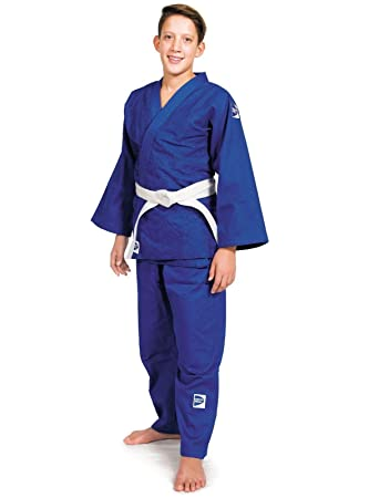 GREEN HILL JUDOGI Club 450 g/m2 Judo GI Uniforme Blanco Azul ...