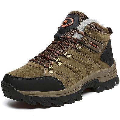 ZanYeing Herren Winterschuhe Warm Gefütterte Outdoor Trekking Sneakers Hohe Schuhe Stoßdämpfung Schneestiefel Wanderschuhe Sports 09kNhyMmIX