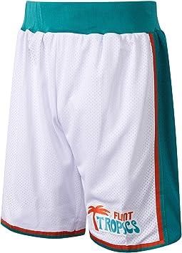 AFLGO Flint Tropics - Pantalón Corto de Baloncesto para Disfraz de ...