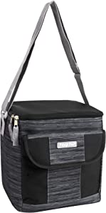 Fridge Pak Insulated Adult Lunch Box & 18 Can Large Capacity Cooler Bag (Greyblack)