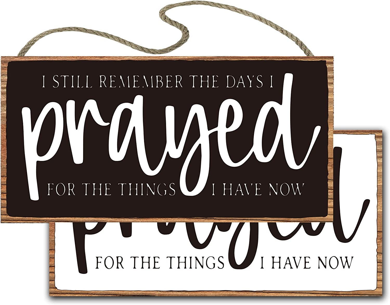 vizuzi Christian Wall Decor, I Still Remember The Days I Prayed for The Things I Have Now Christian Sign, Decor, Wall Art