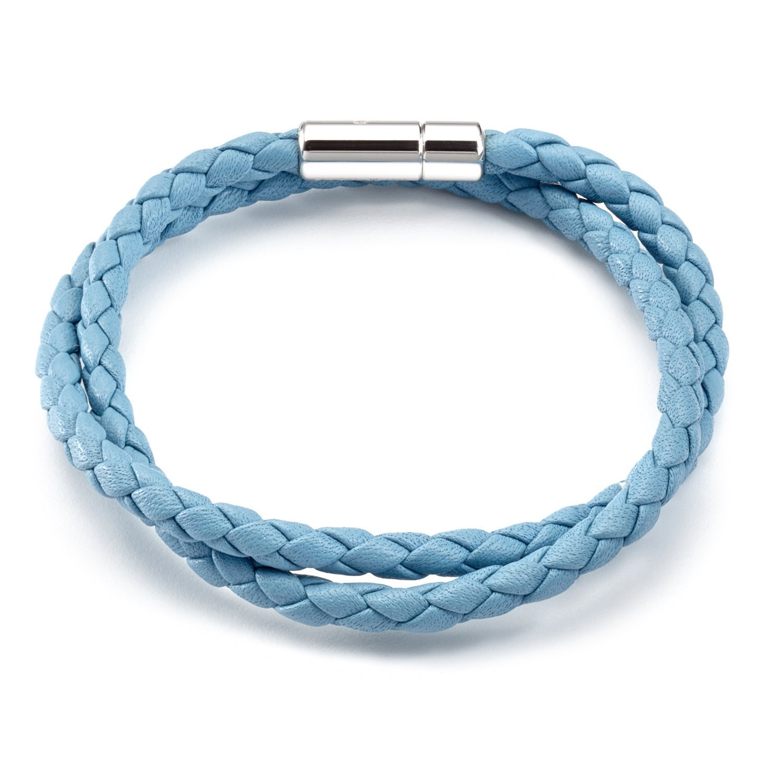 Tateossian Men's Leather Double Wrap Scoubidou Bracelet Medium 39 cm BL7755