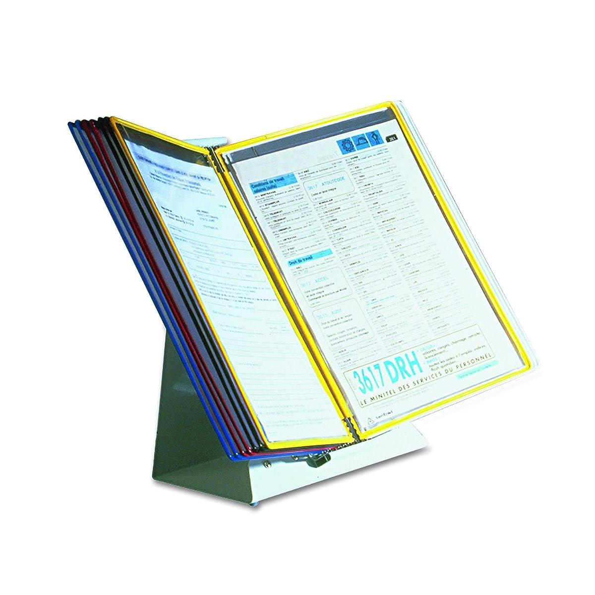 Tarifold, Inc. D291 Desktop Reference Starter Set, 10 Pockets, 5 Tabs