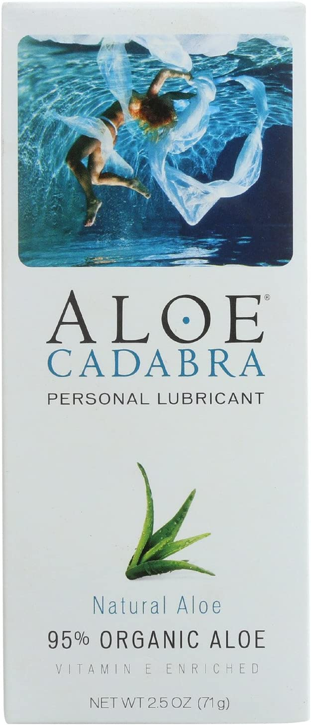4 Pack of Aloe Cadabra Natural Organic Personal Lubricant - Natural Aloe Unscented - 2.5 Ounce
