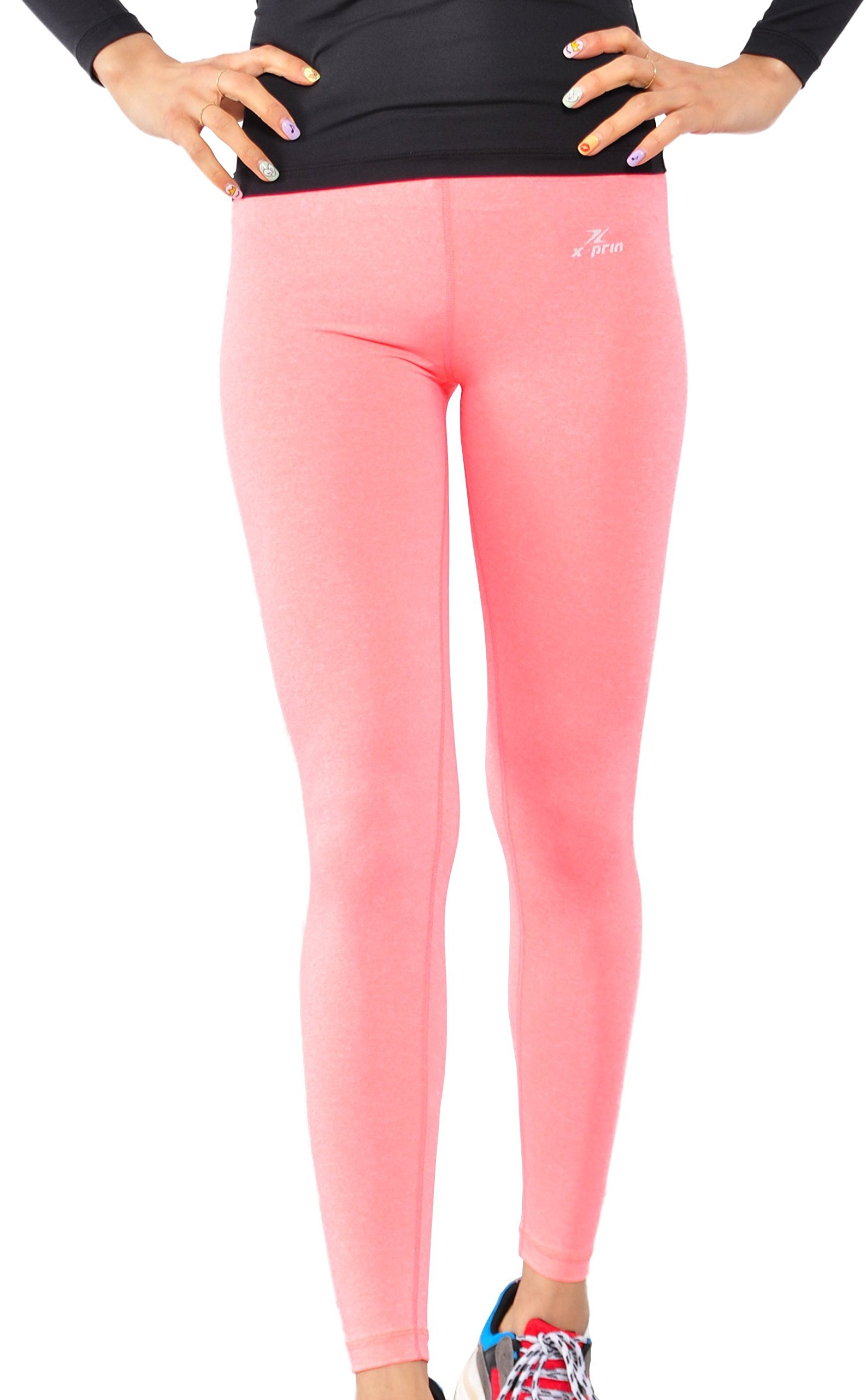 XPRIN A500 Series Womens Long Bottom Pants Base Layer Compression Sports Wear Rash Guard UV 97.5/%