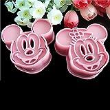 Mickey et Minnie Mouse Cartoon Fondant Gâteau Cookie Cutter moule rose DIY Sugarcraft