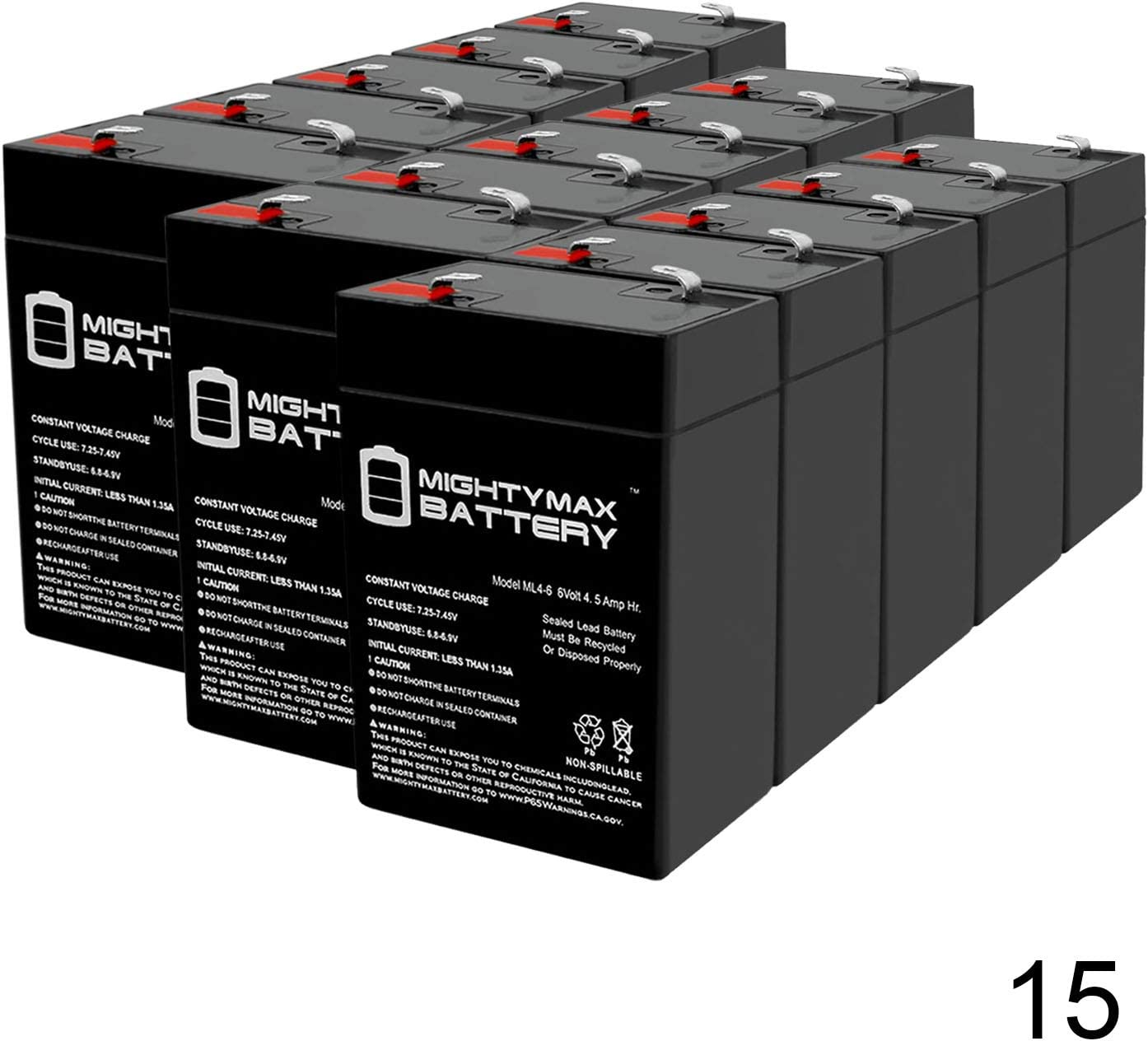 Mighty Max Battery 6V 4.5AH Compatible UPS Battery for APC AP400-15 Pack Brand Product