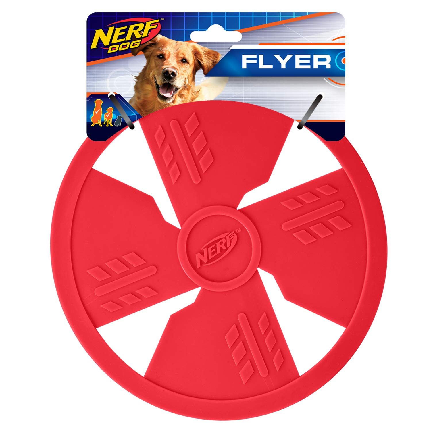 Nerf Dog Small to Medium Red TPR Flyer Dog Toy