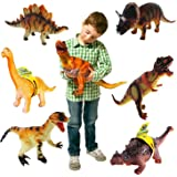 WP 14 inch T-Rex Large Soft Foam Rubber Stuffed Dinosaur Toy Action Play Figure(Pack of 1 Random Figure)