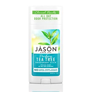 JASON Purifying Tea Tree Deoderant Stick, 2.5 Ounce Tubes (Pack of 3)