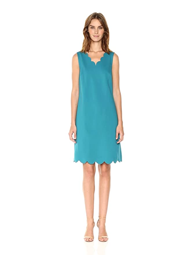 59432c2477a Nine West Women s A-line Scalloped Dress at Amazon Women s Clothing store